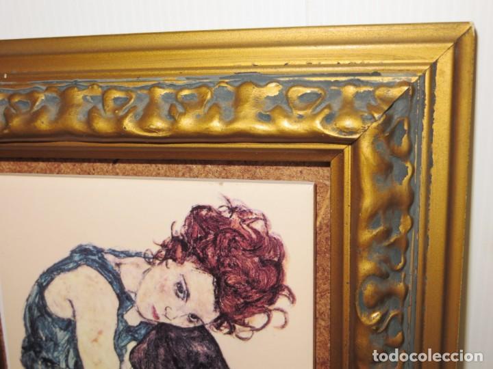 Varios objetos de Arte: Cuadro azulejo Edith, la mujer del artista Egon Schiele - Foto 9 - 278980963