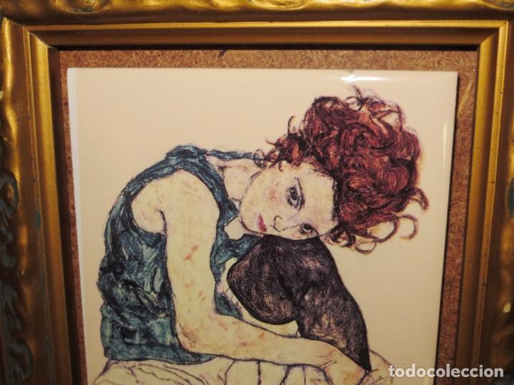 Varios objetos de Arte: Cuadro azulejo Edith, la mujer del artista Egon Schiele - Foto 10 - 278980963