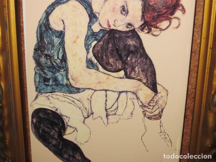 Varios objetos de Arte: Cuadro azulejo Edith, la mujer del artista Egon Schiele - Foto 11 - 278980963