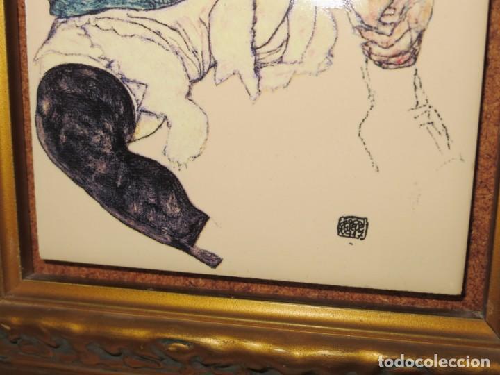 Varios objetos de Arte: Cuadro azulejo Edith, la mujer del artista Egon Schiele - Foto 12 - 278980963