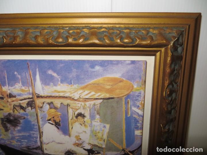 Varios objetos de Arte: Cuadro azulejo Claude Monet y su mujer en el taller flotante Edouard Manet - Foto 6 - 278981023