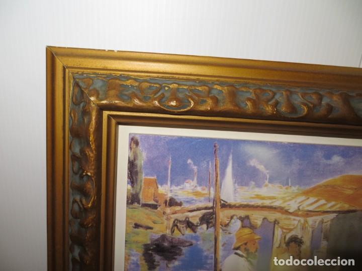 Varios objetos de Arte: Cuadro azulejo Claude Monet y su mujer en el taller flotante Edouard Manet - Foto 7 - 278981023