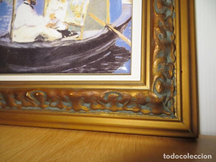 Varios objetos de Arte: Cuadro azulejo Claude Monet y su mujer en el taller flotante Edouard Manet - Foto 9 - 278981023