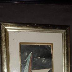 Varios objetos de Arte: ANTIGUA PINTURA COLLAGE PROCEDE DE ALICANTE. Lote 279351123