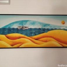 Varios objetos de Arte: PRECIOSO CUADRO EN TELA PINTADO 123 POR 53. Lote 279354553
