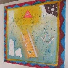 Varios objetos de Arte: CUADRO DE ESTRICTA SIMBOLOGÍA MASÓNICA, MEDIADOS DEL SIGLO XX. INN. Lote 280109428