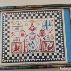 Varios objetos de Arte: MAPA ESPIRITUAL CONMEMORATIVO, DE ESTRICTA SIMBOLOGÍA MASÓNICA, MEDIADOS DEL SIGLO XX. INN. Lote 280109788