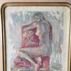 Varios objetos de Arte: JOSÉ BASCONES OBRA SOBRE TELA ENMARCADA. Lote 280658323