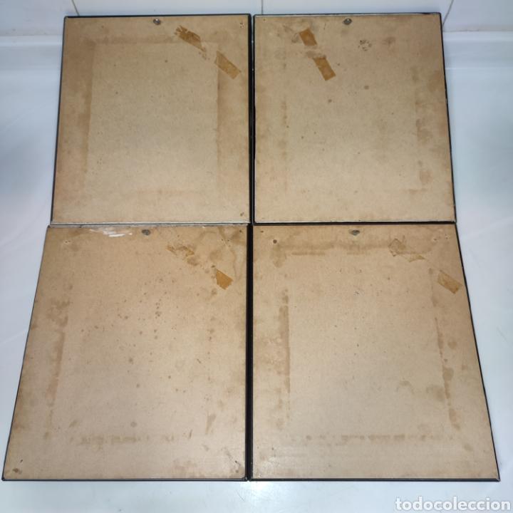 Varios objetos de Arte: LOTE 4 CUADROS TOLEDANOS DAMASQUINADOS CON RELIEVE DON QUIJOTE - Foto 10 - 281022898