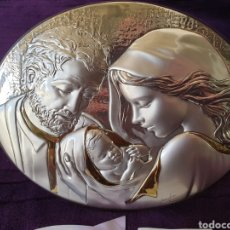 Varios objetos de Arte: ANTIGUO CUADRO RELIGIOSO OVALADO PLATA LTALIA. Lote 283098968