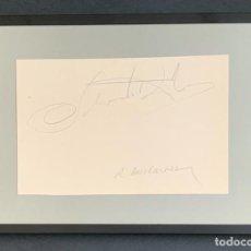Varios objetos de Arte: AUTÓGRAFO SALVADOR DALI Y ROBERT DESCHARNES. Lote 284588518