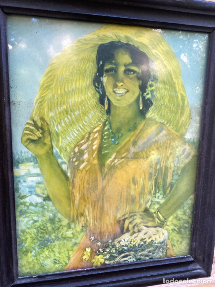 Varios objetos de Arte: Cuadro mujer firmado VÁZQUEZ - Foto 2 - 285370563