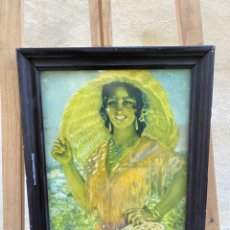 Varios objetos de Arte: CUADRO MUJER FIRMADO VÁZQUEZ. Lote 285370563