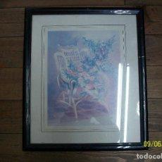 Varios objetos de Arte: CUADRO CON IMAGEN DE FLORES Y SILLON. Lote 286191443