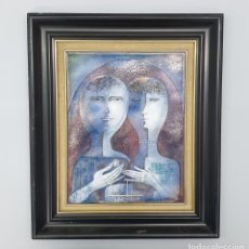 Varios objetos de Arte: MAGNÍFICO ESMALTE DE MONTSERRAT MAINAR BENEDICTO. Lote 286503103