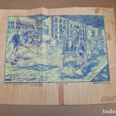 Varios objetos de Arte: RAMON OLIVERA. LINOLEOGRAFIA CON TIRAJE P/A. FIESTAS DE MOROS Y CRISTIANOS. Lote 286593873