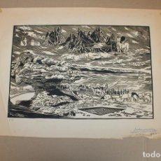 Varios objetos de Arte: RAMON OLIVERA. LINOLEOGRAFIA. Lote 286594713