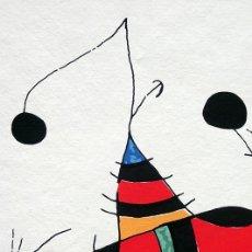 Arte: REPRODUCCIÓN - MIRÓ - MUJER, PÁJARO, ESTRELLA - HOMENAJE A PICASSO - MARCA A LÁPIZ P/T. Lote 286717913