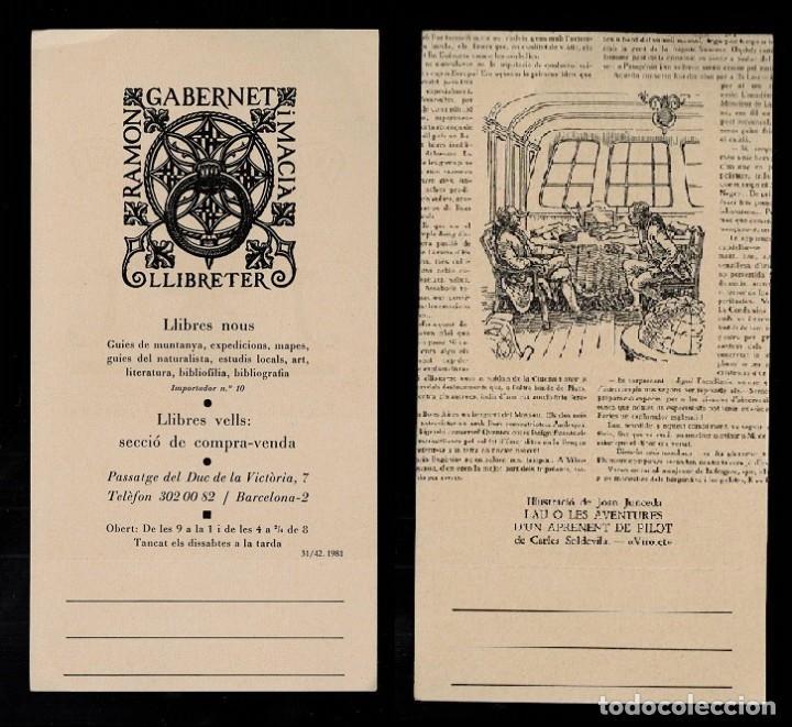 L37-9-2 TARGETÓ DE RAMON GABERNET I MACIÁ AMB IL·LUSTRACIÓ DE JOAN JUNCEDA. (Arte - Varios Objetos de Arte)