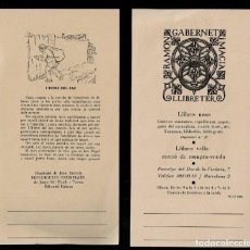 Varios objetos de Arte: L37-9-5 TARGETÓ DE RAMON GABERNET I MACIÁ AMB II.LUSTRACIÓ DE JOAN JUNCEDA.. Lote 287072103
