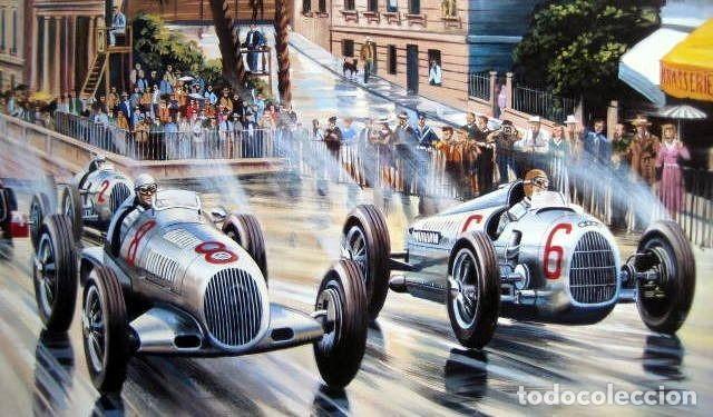 """Varios objetos de Arte: """"Silver Arrows"""" - Mercedes-Benz/Rudolf Caracciola-Auto Union/Bernd Rosemeyer Monaco Grand Prix 1936 - Foto 3 - 287447403"""