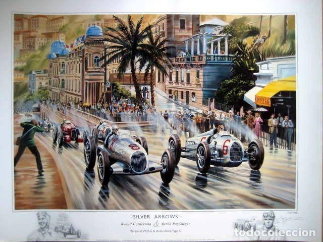 """Varios objetos de Arte: """"Silver Arrows"""" - Mercedes-Benz/Rudolf Caracciola-Auto Union/Bernd Rosemeyer Monaco Grand Prix 1936 - Foto 4 - 287447403"""