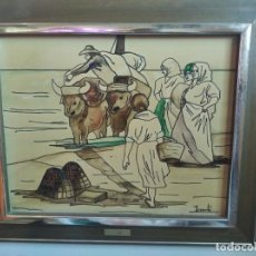 Varios objetos de Arte: ANTIGUO CUADRO ESMALTADO SOROLLA. Lote 287875153