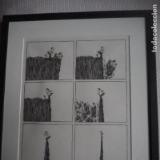 Varios objetos de Arte: FERNANDO KRAHN. ORIGINAL A LÁPIZ. DRAMAGRAMA. GALERÍA VICTOR SAAVEDRA. EXP 2001.. Lote 287885743