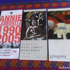 Varios objetos de Arte: PROGRAMA MUSEO THYSSEN-BORNEMISZA GAUGUIN Y MIMESIS REALISMOS MODERNOS. REGALO ANNIE LEIBOVITZ. BE.. Lote 288315158