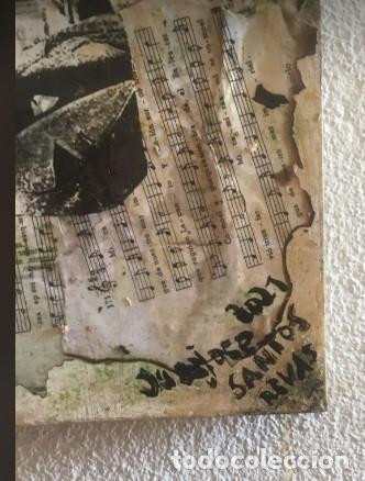 """Varios objetos de Arte: LIENZO SIN MARCO, COLAGE: """"HOMENAJE A LA MÚSICA"""", CON UN VIOLÍN SOBRE LIENZO Y PARTITURAS. - Foto 5 - 288530358"""
