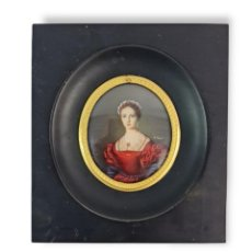 Varios objetos de Arte: MINIATURA PINTADA EN CELULOIDE. EUROPE CA 1920. CELLULOID MINIATURE PAINTING.. Lote 288609848