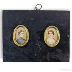 Varios objetos de Arte: MINIATURA PINTADA EN MARFIL. EUROPE CA 1890. IVORY MINIATURE PAINTING.. Lote 288613693