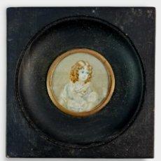 Varios objetos de Arte: MINIATURA PINTADA EN MARFIL. LATE 18TH IVORY MINIATURE PAINTING.. Lote 288664373