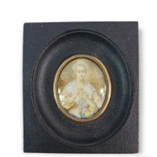 Varios objetos de Arte: MINIATURA PINTADA EN MARFIL. LATE 18TH IVORY MINIATURE PAINTING.. Lote 288954553
