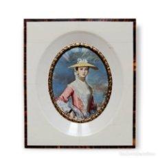 Varios objetos de Arte: MINIATURA PINTADA EN MARFIL. IVORY MINIATURE PAINTING.. Lote 288960773