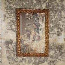 Varios objetos de Arte: OLEO TABLA ANTIGUA PINTURA IMPRESIONISTA VALENCIANA ASOMADAS EN PATIO CON NARANJOS FIRMA ILEGIBLE. Lote 283386278