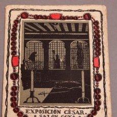 Varios objetos de Arte: YAGO CESAR - 1917 - EXPOSICIÓN EN LA SALA GOYA DE BARCELONA - MODERNISMO - RARISIMO. Lote 289201798