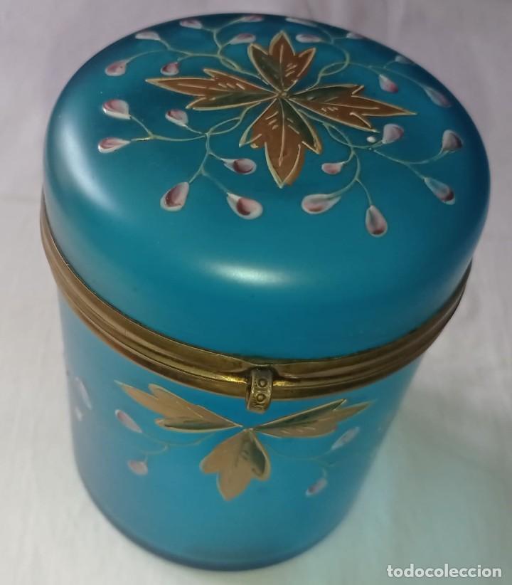 Varios objetos de Arte: BOMBONERA CARAMELERA CRISTAL LATON S.XIX - Foto 6 - 289307803