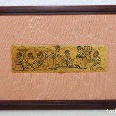 Varios objetos de Arte: MADERA PIROGRABADA DE TEMÁTICA HINDÚ ENMARCADO. Lote 289326978