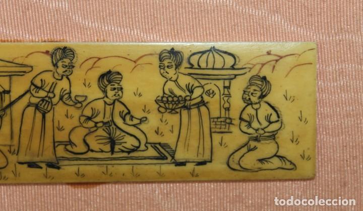 Varios objetos de Arte: Madera pirograbada de temática hindú enmarcado - Foto 2 - 289326978