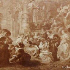 Varios objetos de Arte: PETER PAUL RUBENS (EL JARDIN DEL AMOR). LAMINA DE FINALES DEL SIGLO XIX. Lote 289440798