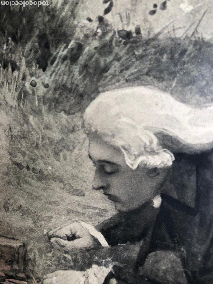 Varios objetos de Arte: PRECIOSA ESCENA GALANTE SOBRE CARTÓN. CIRCA 1920. DIMENSIONES: 32X21 CM. - Foto 3 - 289771148