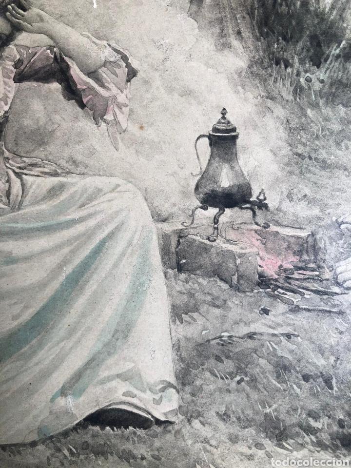Varios objetos de Arte: PRECIOSA ESCENA GALANTE SOBRE CARTÓN. CIRCA 1920. DIMENSIONES: 32X21 CM. - Foto 7 - 289771148