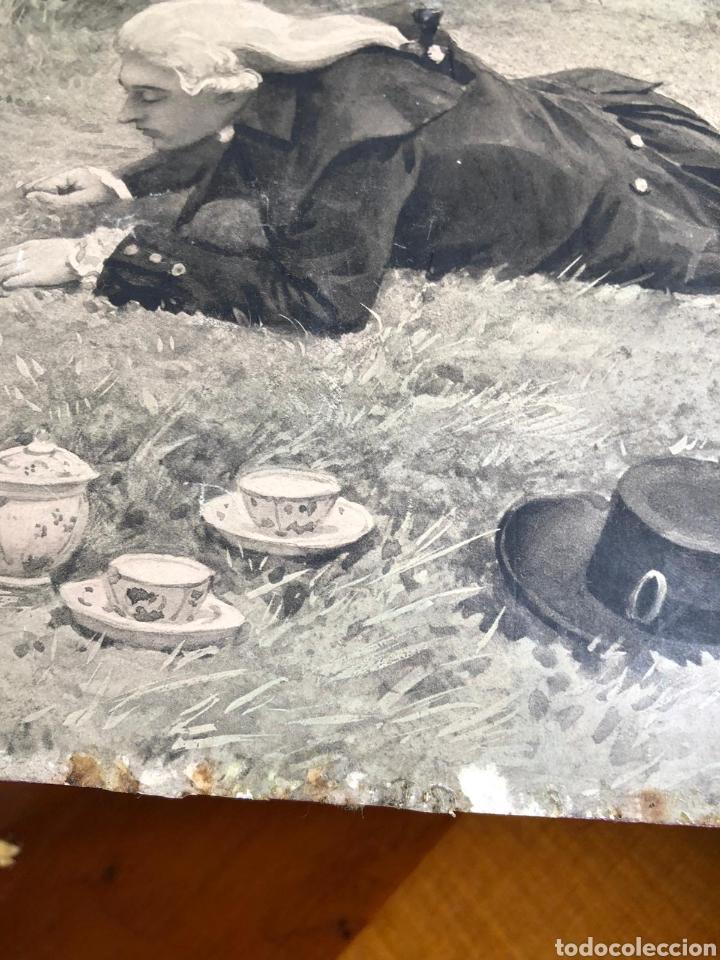 Varios objetos de Arte: PRECIOSA ESCENA GALANTE SOBRE CARTÓN. CIRCA 1920. DIMENSIONES: 32X21 CM. - Foto 8 - 289771148
