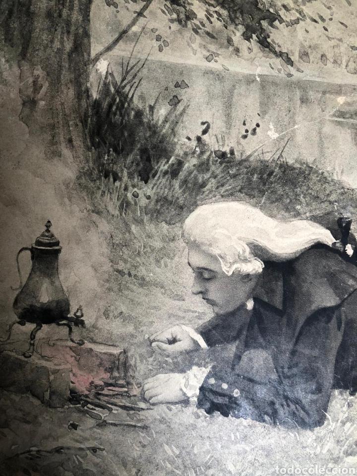 Varios objetos de Arte: PRECIOSA ESCENA GALANTE SOBRE CARTÓN. CIRCA 1920. DIMENSIONES: 32X21 CM. - Foto 9 - 289771148