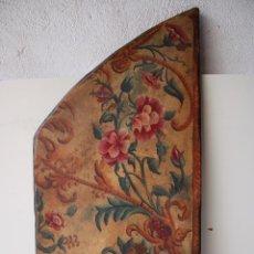 Varios objetos de Arte: HOJA PUERTA PINTADA A MANO. Lote 289778143