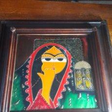Varios objetos de Arte: CUADRO ANTIGUO METÁLICO. Lote 289797133