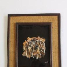 Varios objetos de Arte: BONITO CUADRO DE PERRITO, FIRMADO MORALES. 39X32 CM.. Lote 294555728