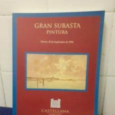Varios objetos de Arte: GRAN SUBASTA PINTURA, CASTELLANA SUBASTAS 1998, ESTADO EXCELENTE. Lote 296018028