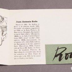 Varios objetos de Arte: JUAN ANTONIO RODA - SALA CARALT -1951. Lote 296617768